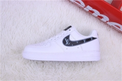"Super max perfect Louis vuitton x Nike Air Force 1 '07 Low""White/Black Monogram Flowers"""