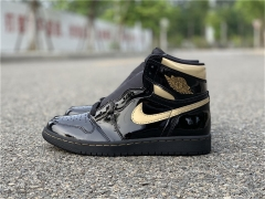 "Authentic Air Jordan 1 High OG ""Black/Metallic Gold"""