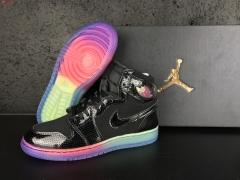 Super max perfect Air Jordan 1 Retro  BlackRainbow (98.5%Authentic) (good quality)