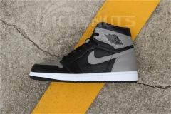 "(Right Box Tag,right version) Authentic Air Jordan 1 ""Shadow"""