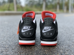 "Authentic Air Jordan 4 ""Bred""2019"