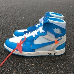 Authentic Off White x Air Jordan 1 UNC men and women shoes